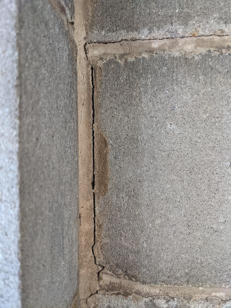 Interior - Cracked mortar