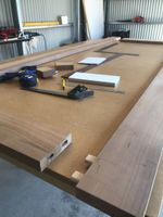 Mortise and tenon join the rails and stiles