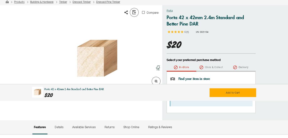 Screenshot_2021-05-06 Porta 42 x 42mm 2 4m Standard and Better Pine DAR.png