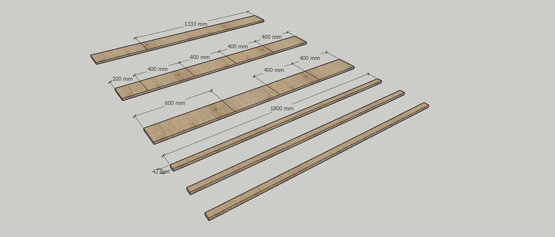 Timber cut list.