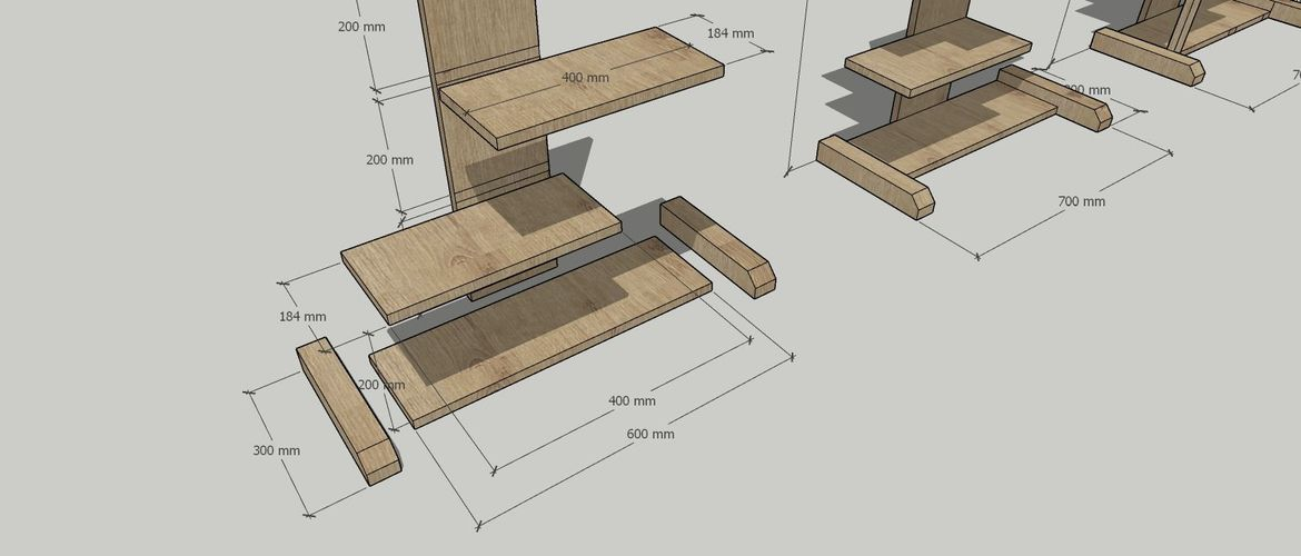 Foot assembly and shelf lay out