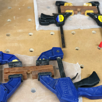 5.5 Both crossovers glued and clamped.png