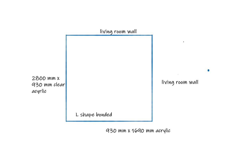 L Shape dimensions
