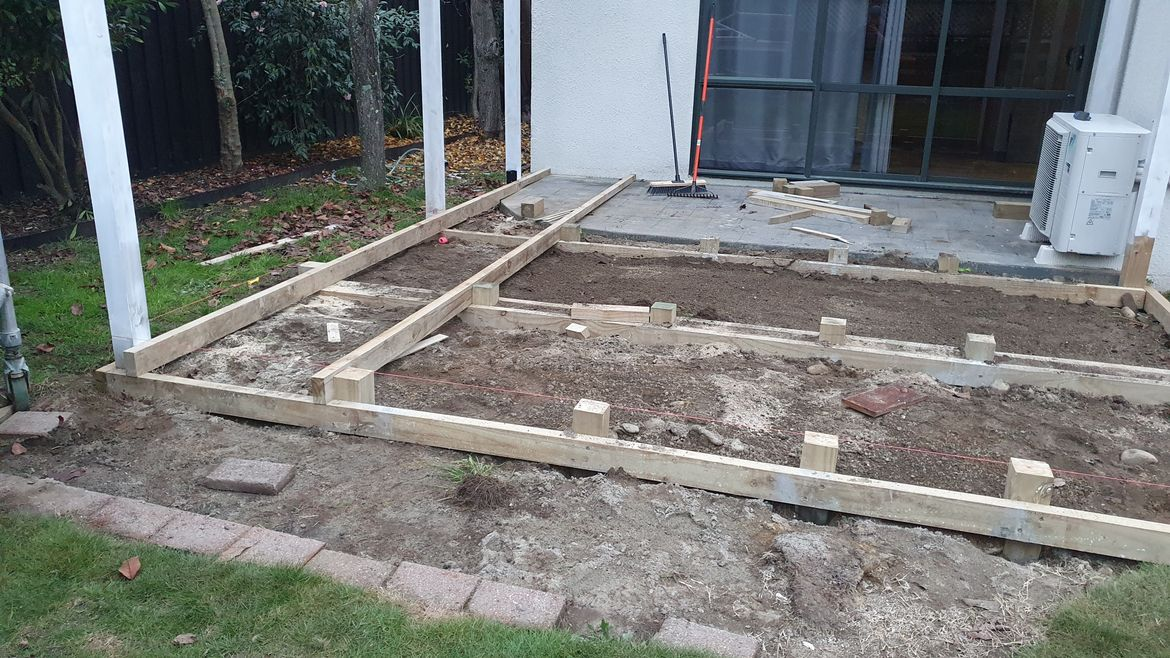 Joists being installed.
