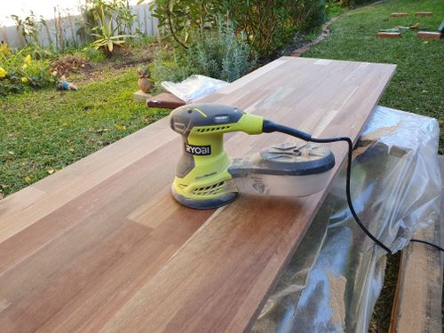 Sanding - it is so important when getting the top ready
