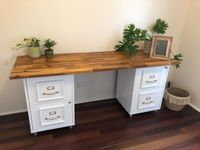 Acacia project panel on upcycled filing cabinets.