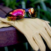 Safety glasses and gloves are a must for most tasks.