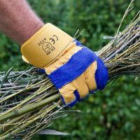 General duty cotton and leather gloves are ideal for garden clean ups.