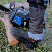 Knee pads and cut-resistant clothing can protect against serious injury.