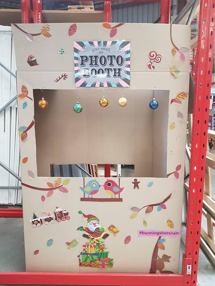 Photo booth created with boxes
