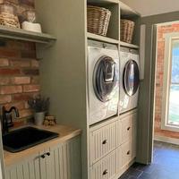 Farmhouse laundry renovation by housetohome