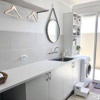 $500 Bunnings laundry renovation by prettyliving