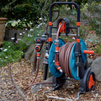 A hose reel keeps your watering gear tidy and protected.