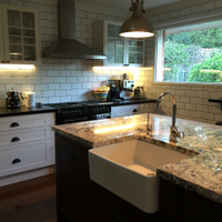 Kitchen renovation with large island by Workshop member cupofchloe.