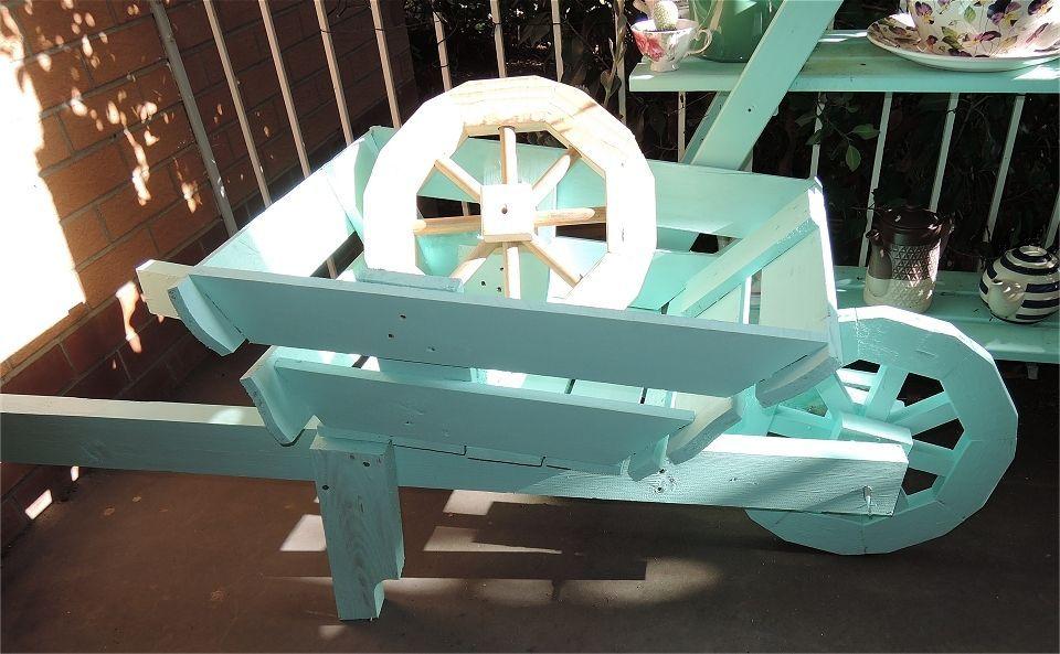 Broomstick wood as wheel spokes.