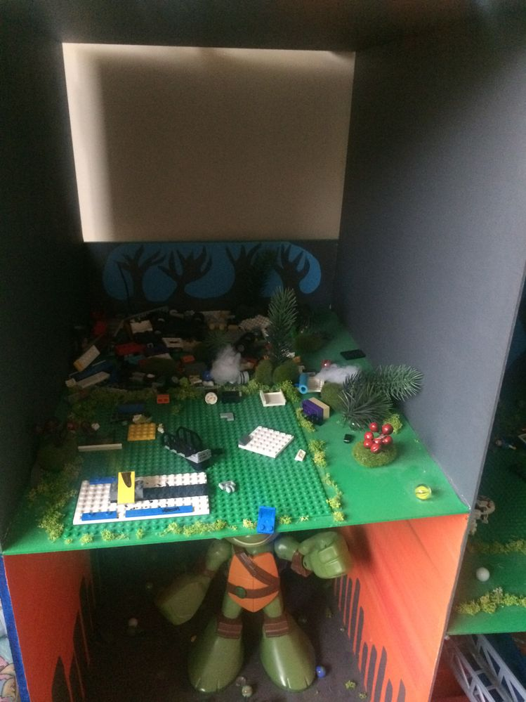 LEGO construction area, the forest