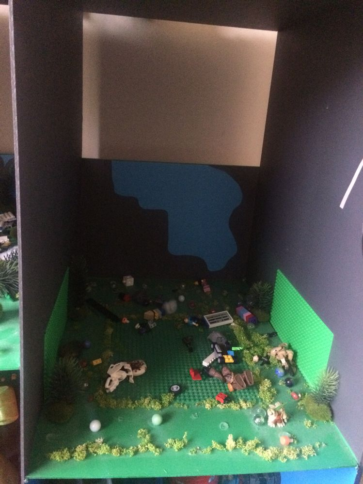 LEGO construction area