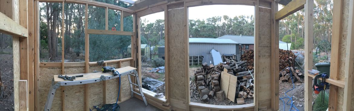 It's going to be very light with 5m2 of north-facing windows.