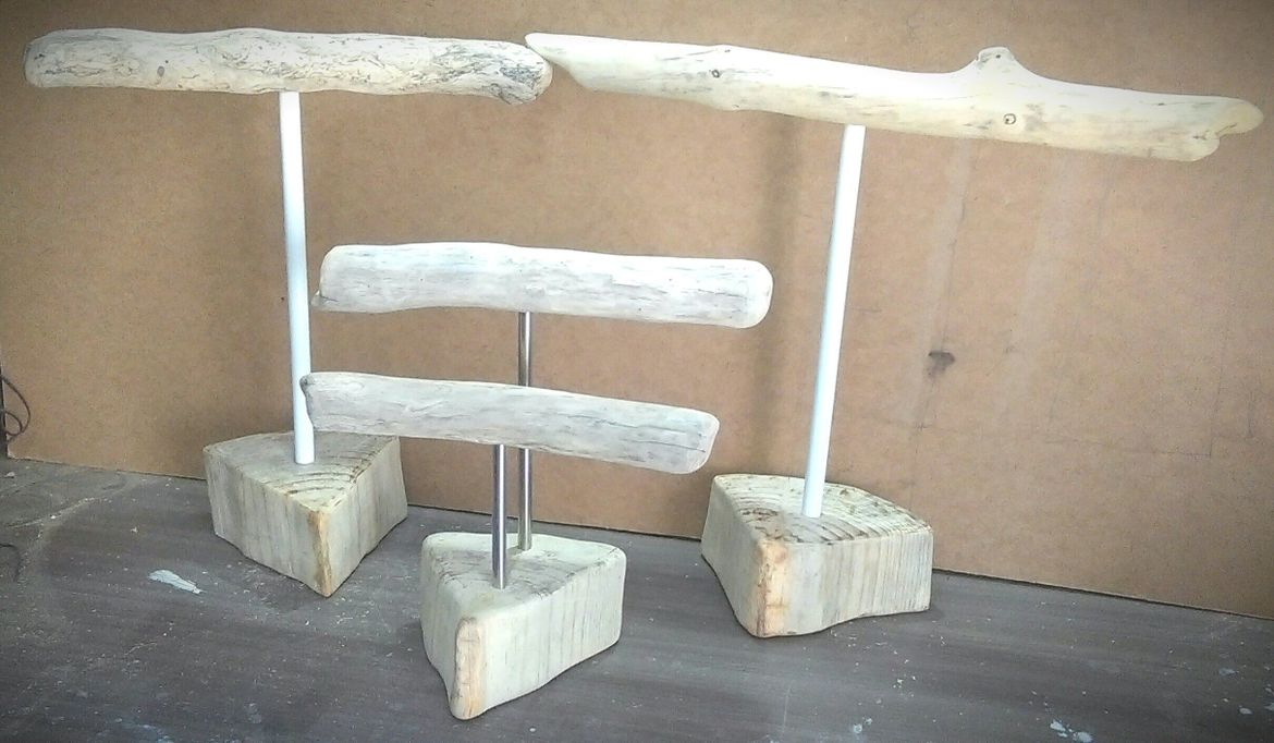 Driftwood jewelry stand.