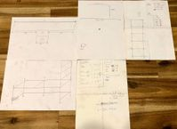 plans, measurements, sketches