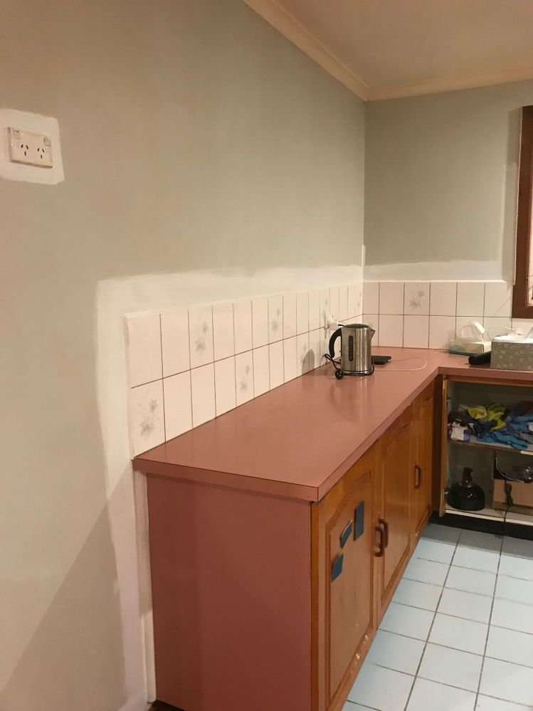 Pink bench tops