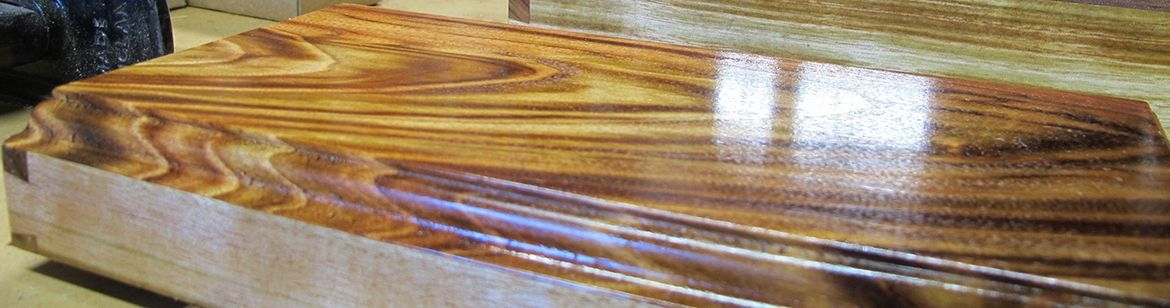 Experienced woodworker Ron Rowe is making a new jewellery box.