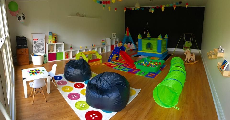 The finished playroom