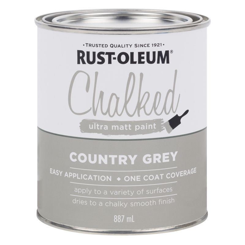 Finally add a coat of Rustoleum chalk paint. I found the best application was with a rag in small amounts. However you can paint it on and sand it back depending on the effect you are going for.