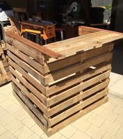 Bar made with pallet wood.