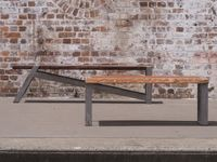 Recyled timber and steel benches