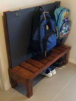 Bag organiser for entryway