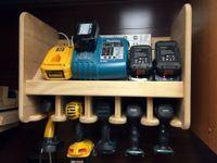 Cordless drill charging station
