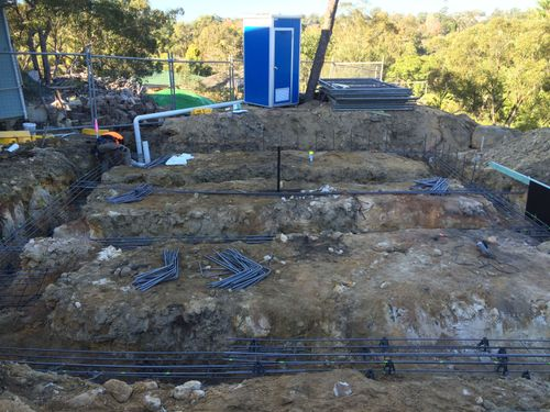 Strip footing before concrete pour