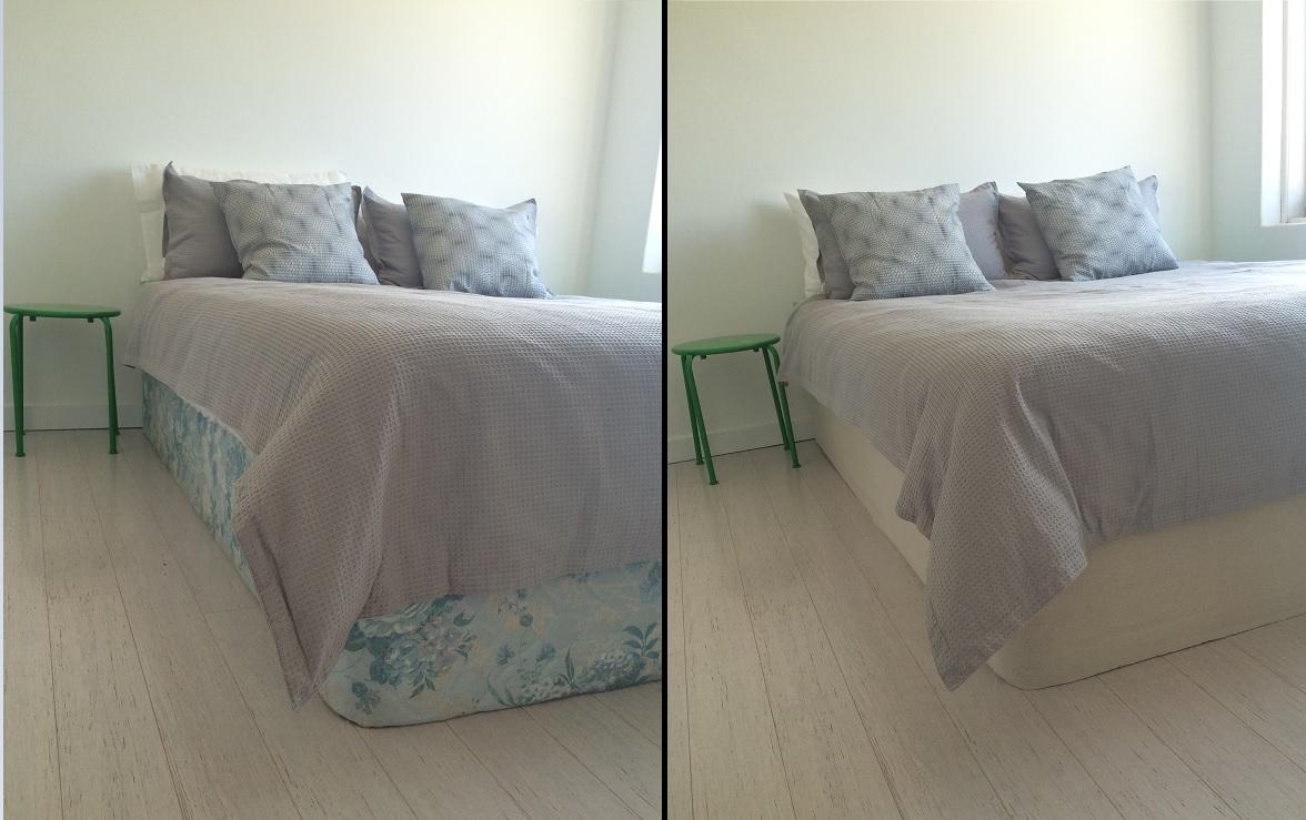 D I Y Drop Cloth Bed Skirt Bunnings Workshop Community