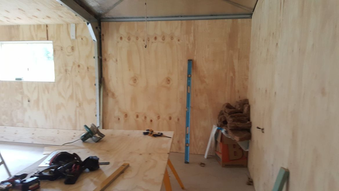 walls insulated and lined