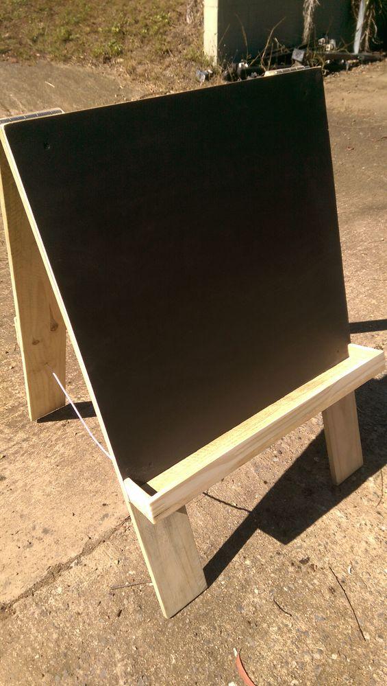 Folding black board.