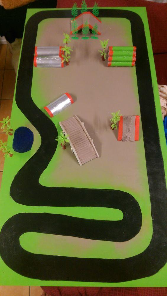 Car track.