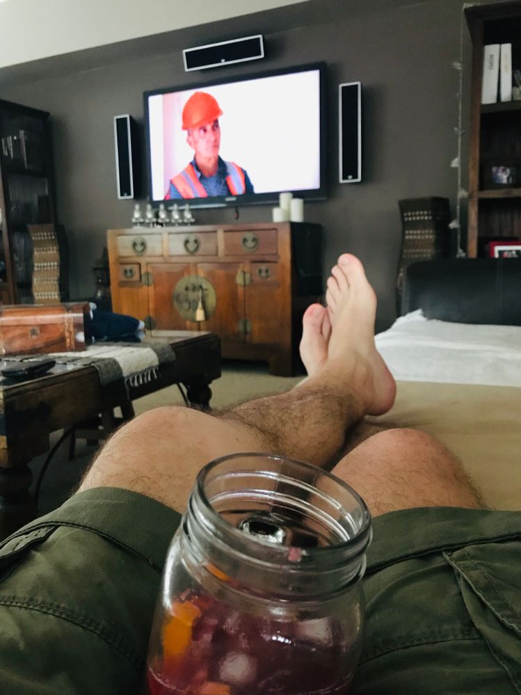 Needed a rest on Xmas day! A jug of Sangria and watching Grand Designs on TV