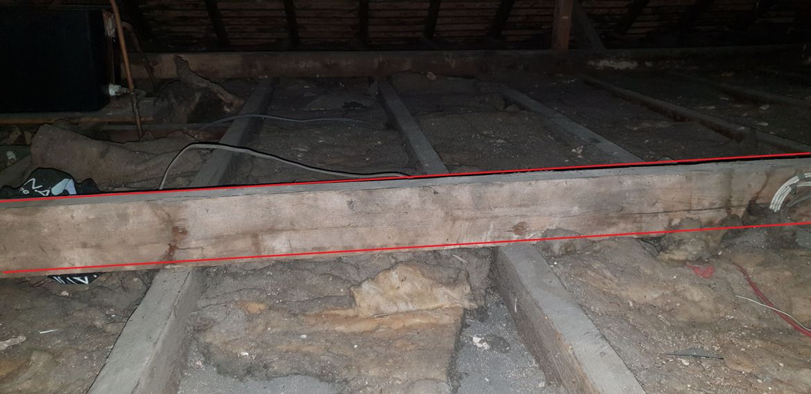 beam to be removed