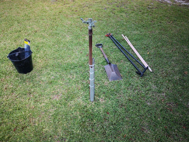 old sprinkler setup