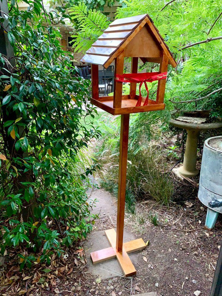 7th project - Xmas present for mum - bird house/bird feeder