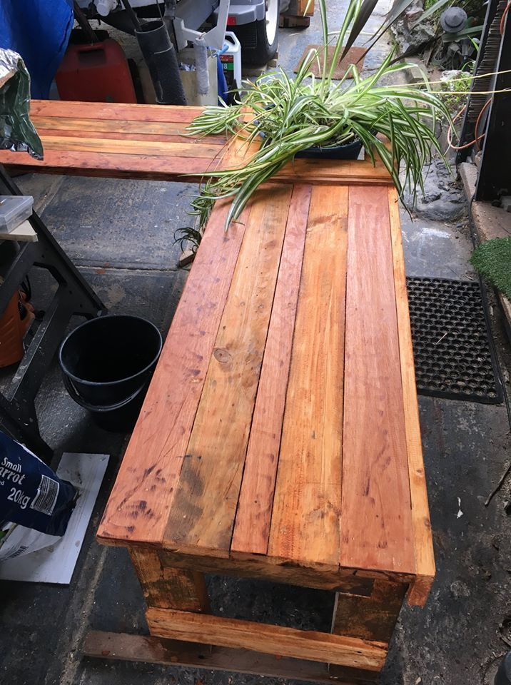 Corner bench seat with planter