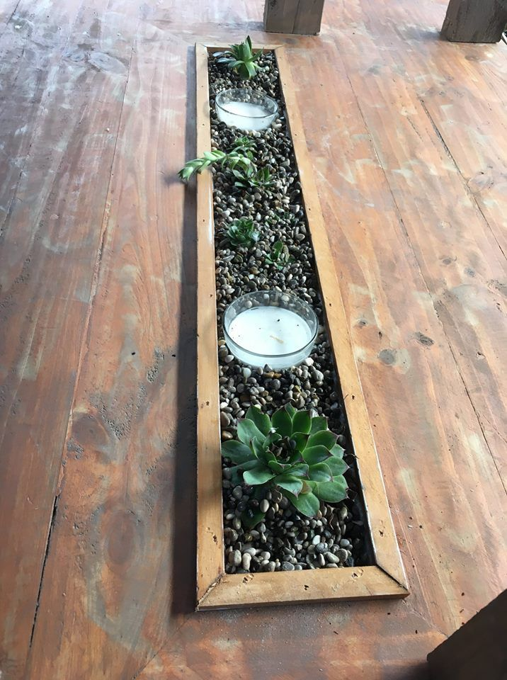 Out door table with planter