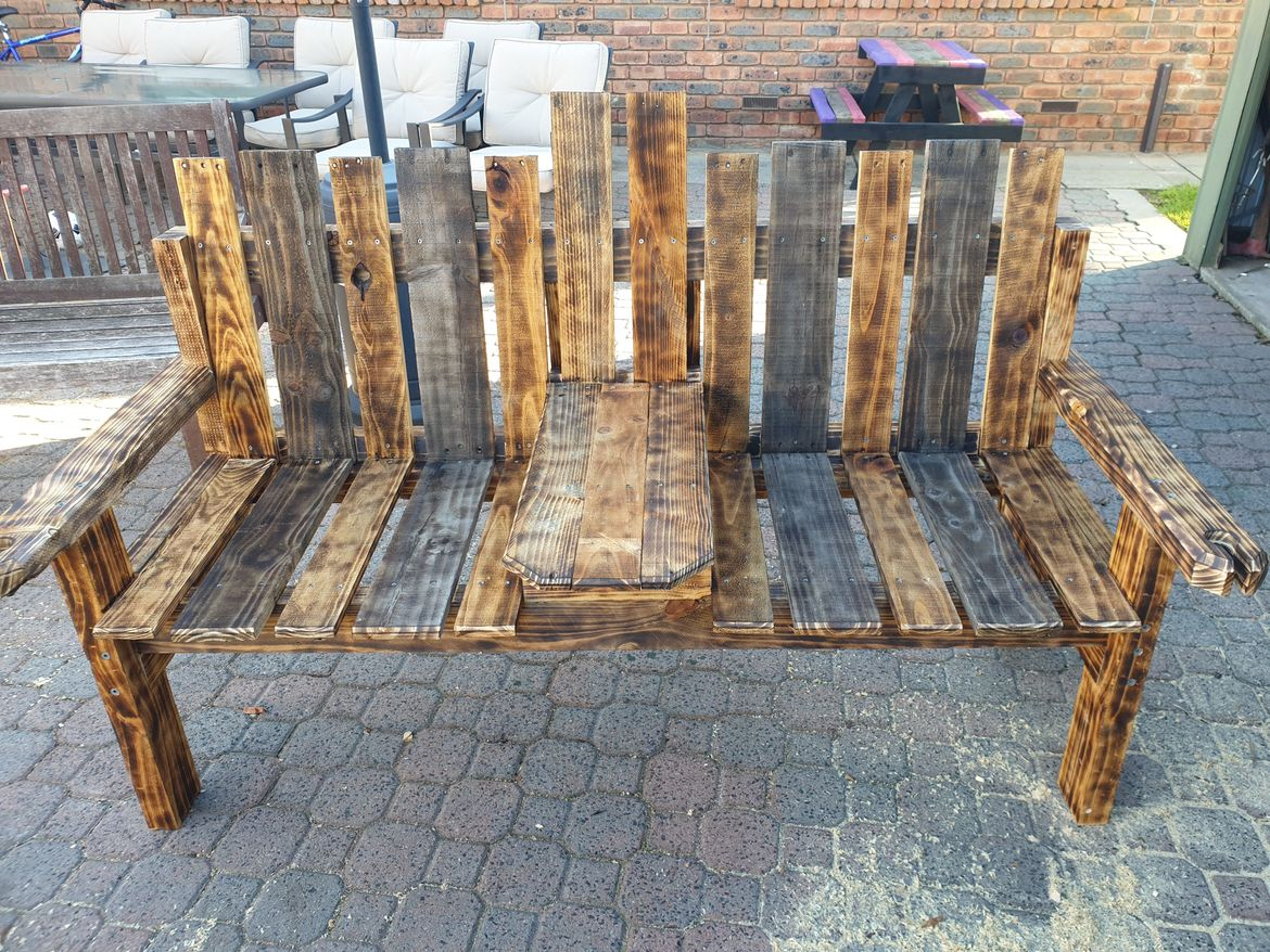 Two seat outdoor chair