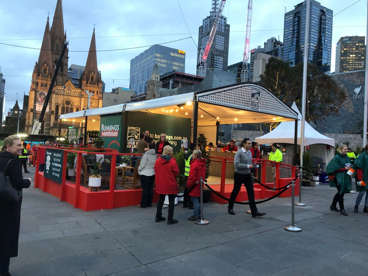 Melbourne's Federation Square this morning