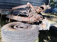There was no end of rust in this, even the drawbar had broken, it was that bad