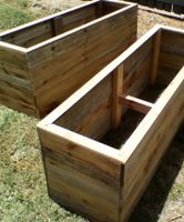 Boxes made using treated pine fence palings