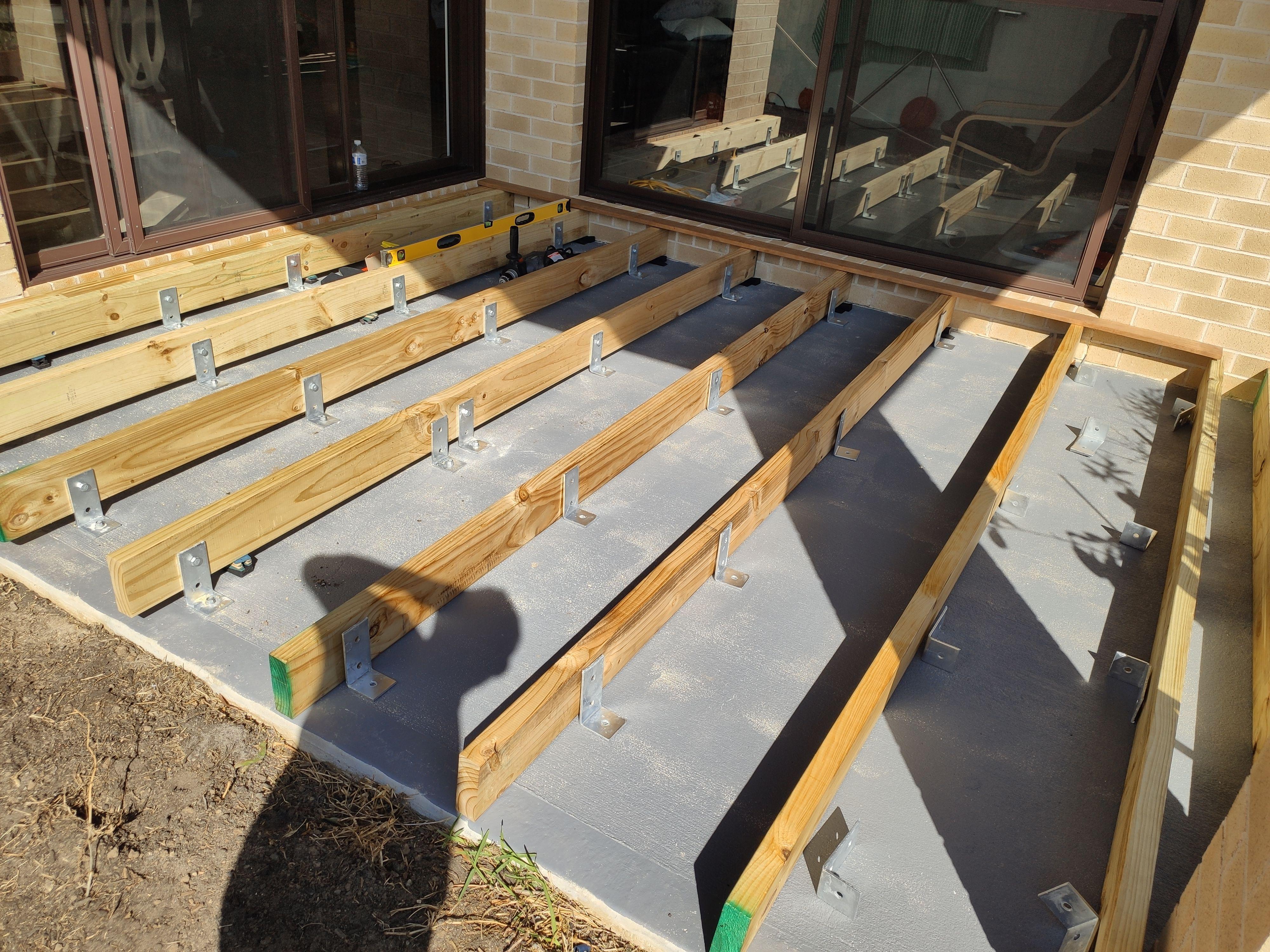 Ground Level Deck Over Concrete
