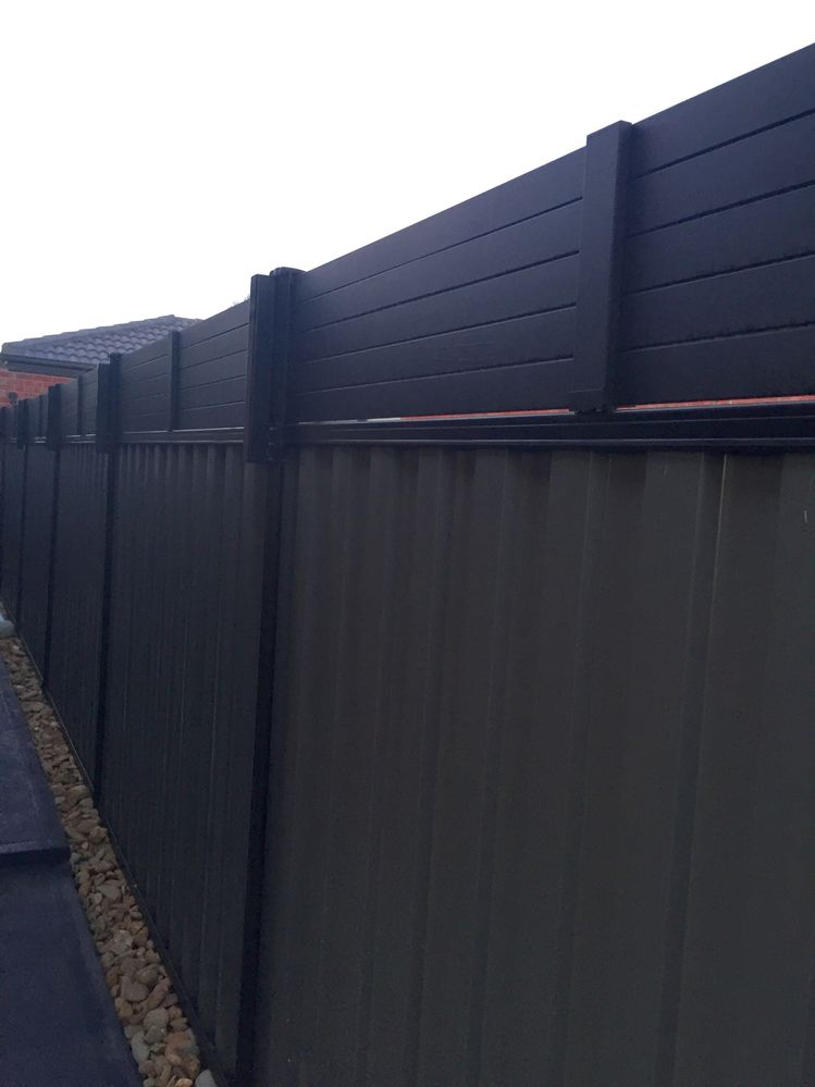 Needed some privacy so built a fence extension - all the panels can be removed for maintenance