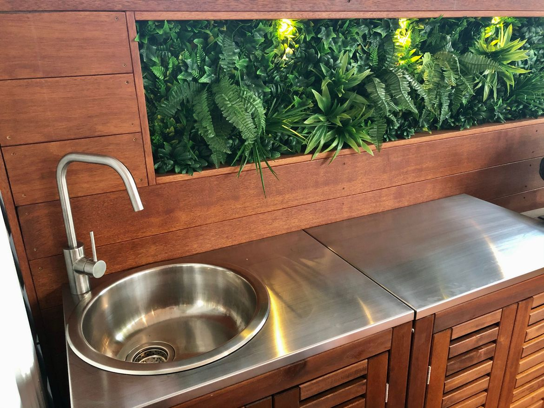 After: Outdoor Kitchen with Sink & Storage